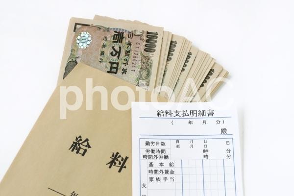 給料袋と1万円札